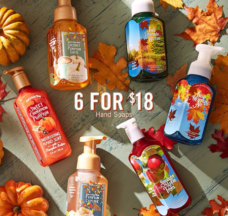 6 for $18 Hand Soaps