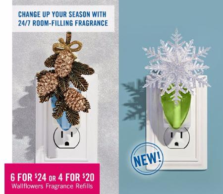 6 for $24 or 4 for $20 Wallflowers Fragrance Refills