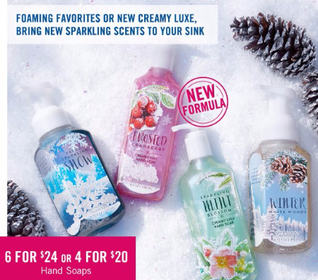 6 for $24 or 4 for $20 Hand Soaps