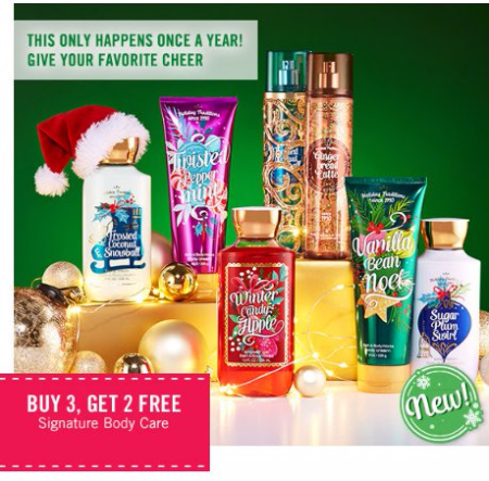 Buy 3, Get 2 Free Signature Body Care