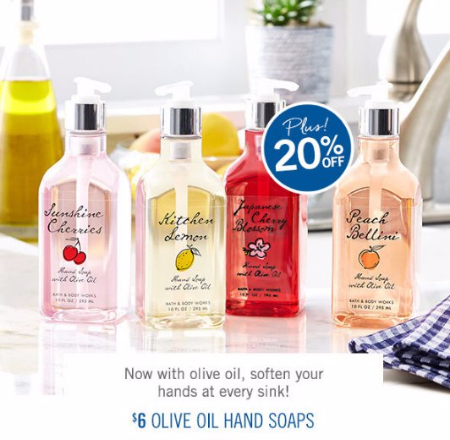 $6 Olive Oil Hand Soaps