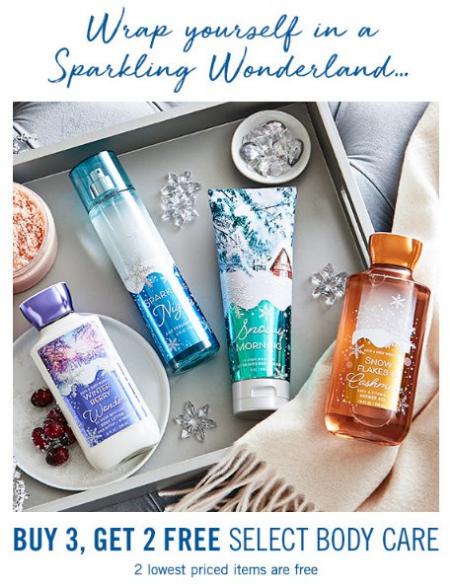 Bath Body Works 3 Get 2 Free Select Care