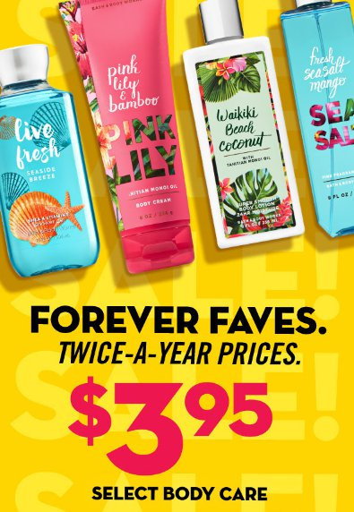 $3.95 Select Body Care