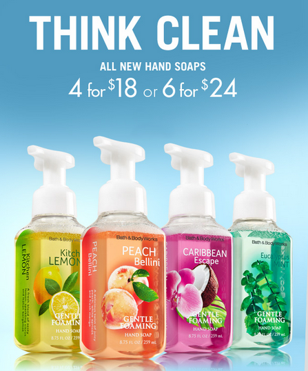 4 For $18 New Scents at Bath & Body Works
