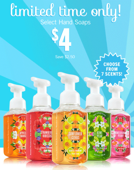 $4 Hand Soap at Bath & Body Works