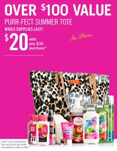 2014 V.I.P. Tote $20 with Any $30 Purchase at Bath & Body Works