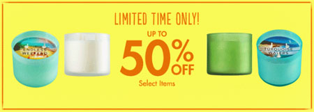 50% Off Select Items at Bath & Body Works