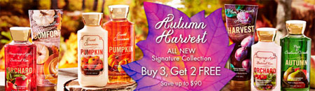 Buy 3, Get 2 Free Signature Body Care at Bath & Body Works