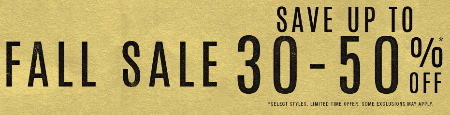 Fall Sale up to 30-50% Off at Journeys