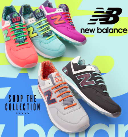 Bright New Balance at Journeys