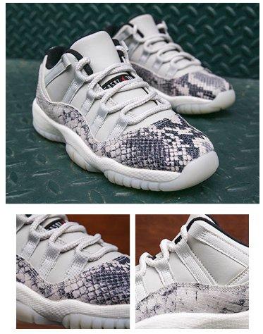 free shipping 8a248 30c2c Jordan Retro 11 Low  Snakeskin . Kids Foot Locker