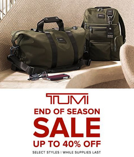 Tumi- Now Open