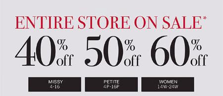 40% - 60% Off Sale