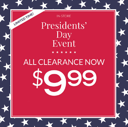 $9.99 Clearance