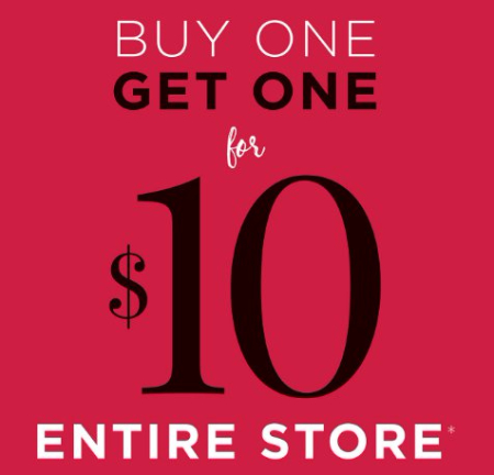Everything is BOGO for $10