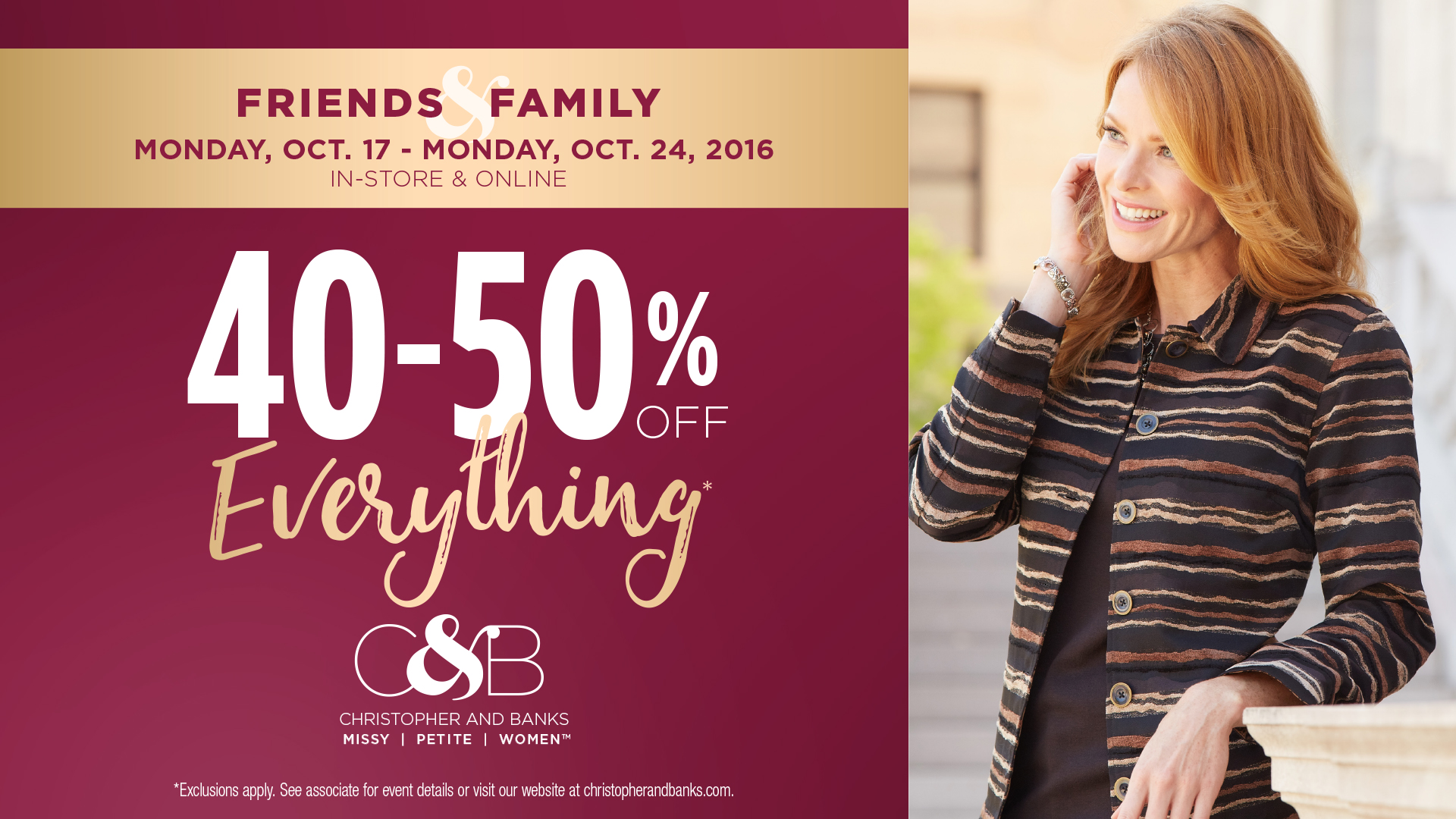 40-50% Off Everything