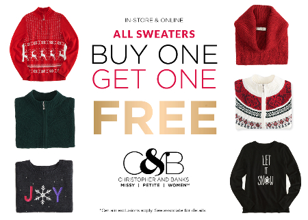 All Sweaters BOGO FREE