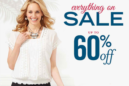 Sale Up to  60% Off at Christopher & Banks/CJ Banks