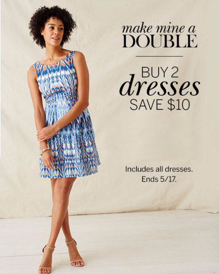 Buy 2 Dresses, Save $10
