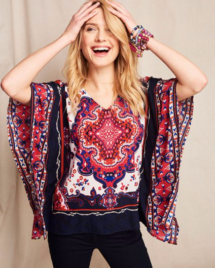 Discover Our Favorite Printed Ponchos for Spring