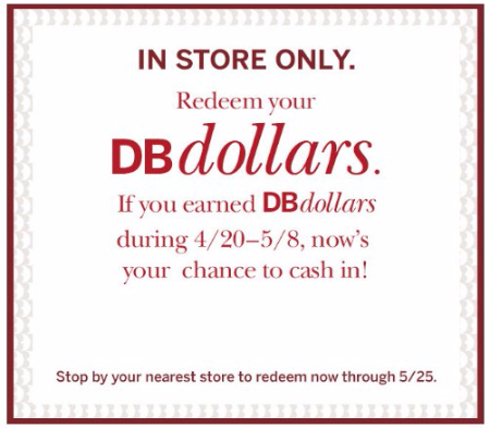 Redeem Your DB Dollars