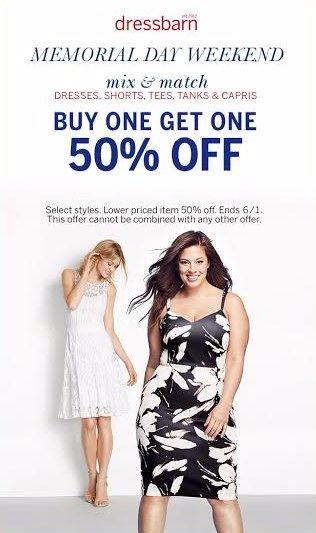 dressbarn's Memorial Day Weekend BOGO 50% Off Sale!