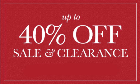 Up to 40% Off Sale & Clearance