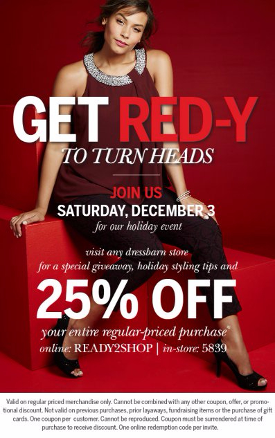The GET RED-Y Holiday Event