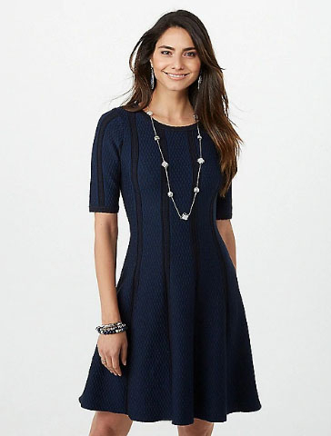 The Outlet Shoppes Of The Bluegrass Textured Fit And Flare Dress