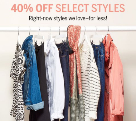 3ac3bb56cf6 Tuscola Outlet Shops     40% Off Select Styles     Dress Barn ...