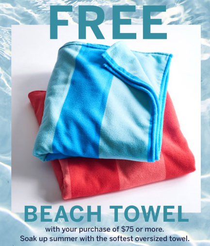 af0189e407 Millcreek Mall ::: Free Beach Towel ::: dressbarn