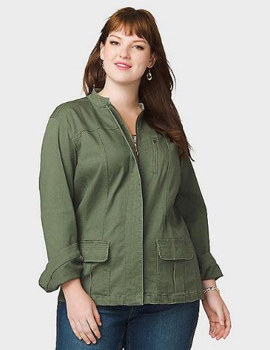 Redstone Shopping Center Plus Size Military Jacket Dressbarn