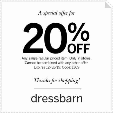 20% off One Item