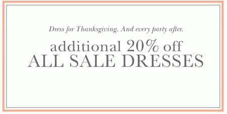 Additional 20% Off All Sale Dresses at dressbarn