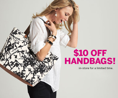 $10 Off Handbags at dressbarn
