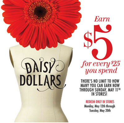 Daisy Dollars at dressbarn