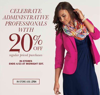 Enjoy 20% Off at Dress Barn