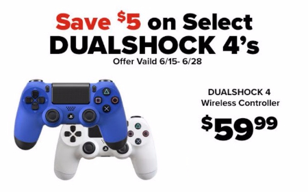 $5 Off Select DualShock 4's Wireless Controller