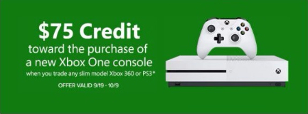 $75 Credit Toward the Purchase of a New Xbox One Console