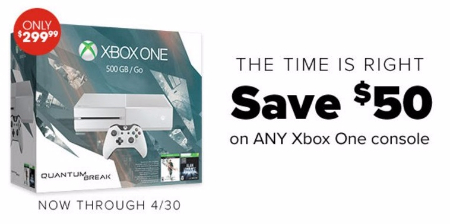 $50 Off Any Xbox One Console