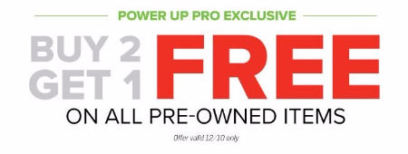 Buy 2, Get 1 Free on All Pre-owned Items