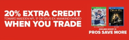 20% Extra Credit When You Trade