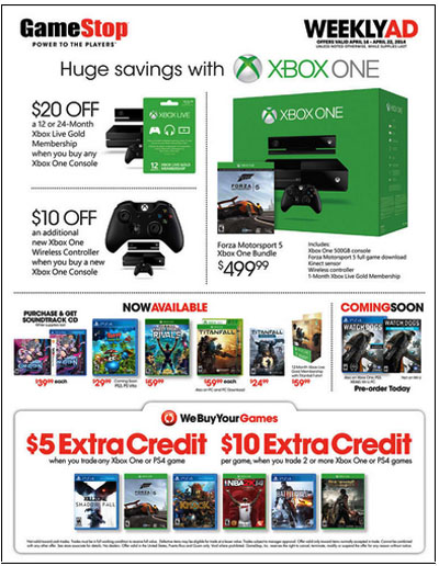 Weekly Specials at GameStop
