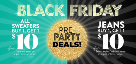 Buy 1, Get 1 $10 Pre-Party Deals at Charlotte Russe