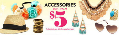Accessories Starting at $5 at Charlotte Russe