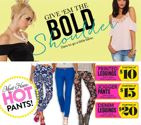 Printed Leggings Starting at $10 at Charlotte Russe