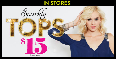 Sparkly Tops $15 at Charlotte Russe