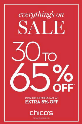 Everything's on Sale  30% - 65% Off