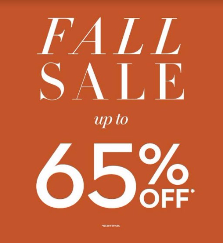 Fall Sale up to 65% Off