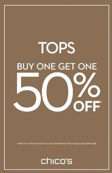 Tops Buy One Get One 50% Off